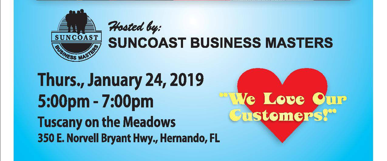 Proud member (and current President) of Suncoast Business Masters.
